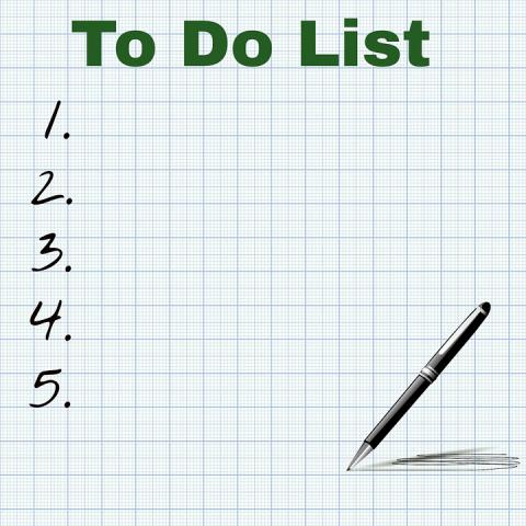 home cleaning to do list