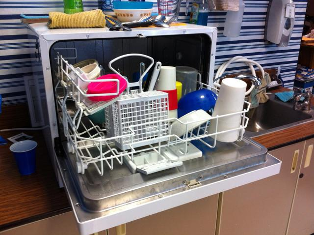 dishwasher or doing dishes in the sink?