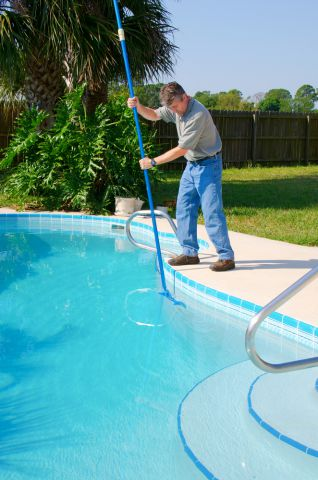 Pool service and maintenance