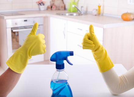 professional home cleaners let cleaning products do their job