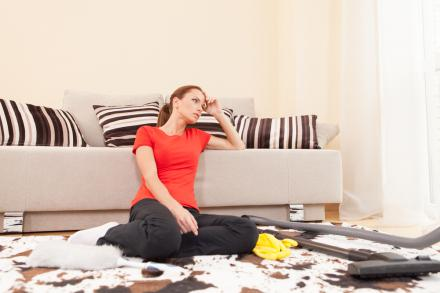 get rid of the clutter first