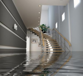 Damage to home or office caused by water