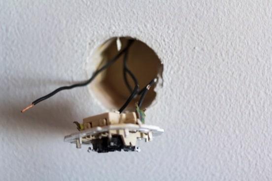 exposed wiring bathroom